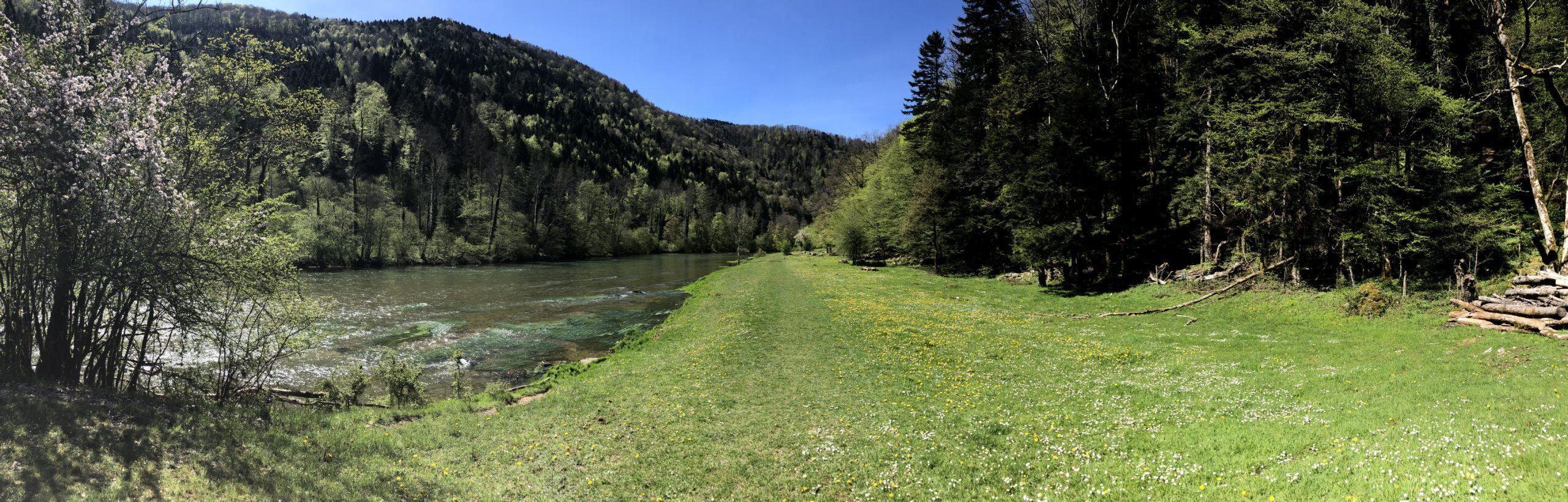 Doubs JU, Wanderweg der Route 2 und 95
